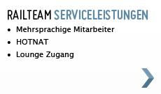 Railteam Serviceleistungen